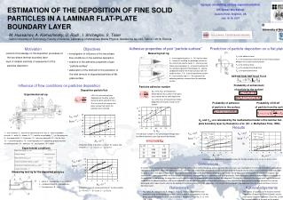 ESTIMATION OF THE DEPOSITION OF FINE SOLID PARTICLES IN A LAMINAR FLAT-PLATE BOUNDARY LAYER