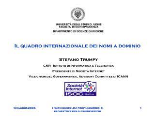 Il quadro internazionale dei nomi a dominio