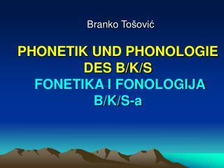 Branko T ošović