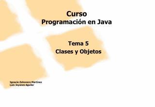 Curso Programación en Java