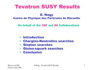 Tevatron SUSY Results