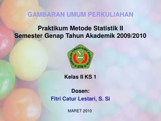 Kelas II KS 1  Dosen: Fitri Catur Lestari, S. Si