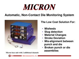 Automatic, Non-Contact Die Monitoring System