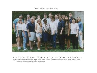 Mike Coovert's Class about 1996