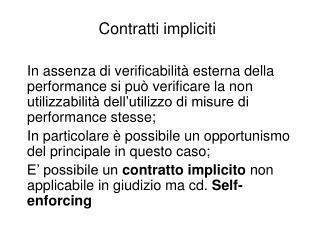 Contratti impliciti