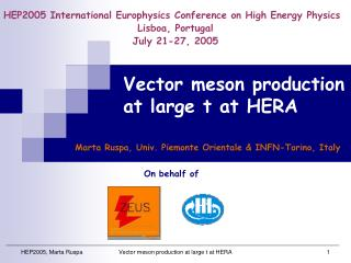 Vector meson production at large t at HERA