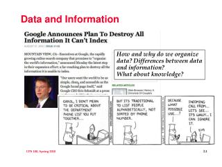 Data and Information