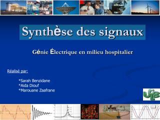 Synth è se des signaux