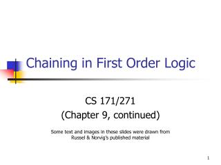 Chaining in First Order Logic