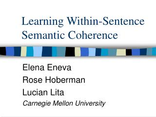 Learning Within-Sentence Semantic Coherence