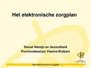 Het elektronische zorgplan