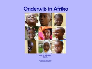 Onderwijs in Afrika
