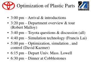 Optimization of Plastic Parts