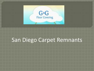 San Diego Carpet Remnants