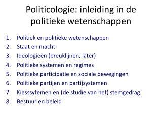 Politicologie: inleiding in de politieke wetenschappen