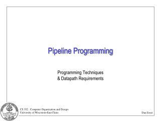 Pipeline Programming