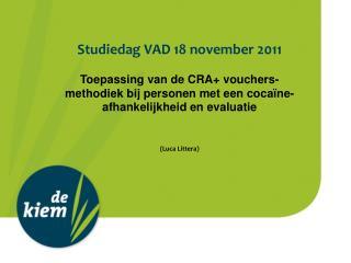 Studiedag VAD 18 november 2011