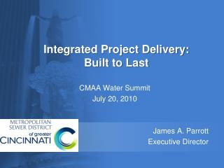 CMAA Water Summit  July 20, 2010