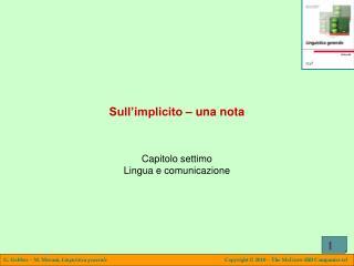Sull'implicito – una nota