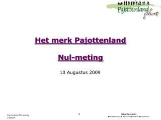 Het merk Pajottenland Nul-meting