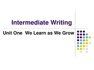 Intermediate Writing