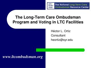 The Long-Term Care Ombudsman Program and Voting in LTC Facilities