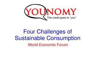 Four Challenges of Sustainable Consumption