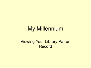 My Millennium: