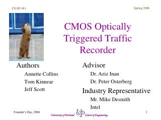CMOS Optically Triggered Traffic Recorder
