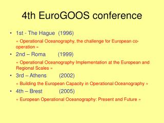 4th EuroGOOS conference