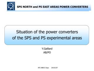 SPS NORTH and PS EAST AREAS POWER CONVERTERS