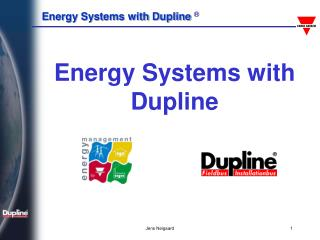 Energy Systems with Dupline