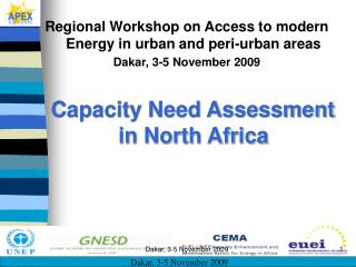 Regional Workshop on Access to modern Energy in urban and peri-urban areas
