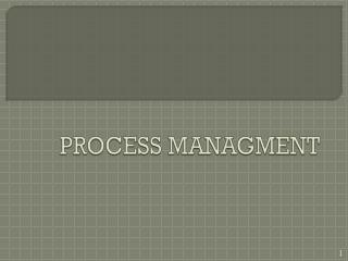 PROCESS MANAGMENT