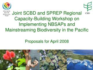 Joint SCBD and SPREP Regional Capacity-Building Workshop on Implementing NBSAPs and Mainstreaming Biodiversity in the Pa