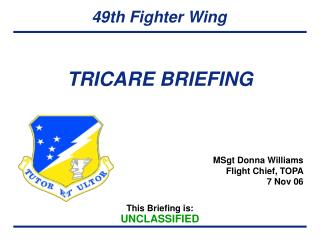 TRICARE BRIEFING
