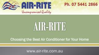 Choosing the Best Air Conditioner for Your Home