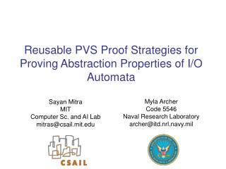 Reusable PVS Proof Strategies for Proving Abstraction Properties of I/O Automata