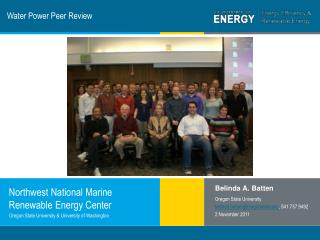Water Power Peer Review