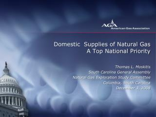 Domestic  Supplies of Natural Gas A Top National Priority