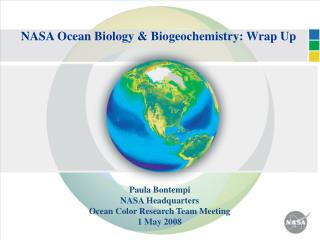 NASA Ocean Biology & Biogeochemistry: Wrap Up