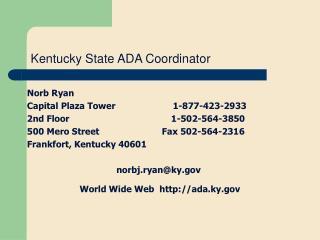 Kentucky State ADA Coordinator