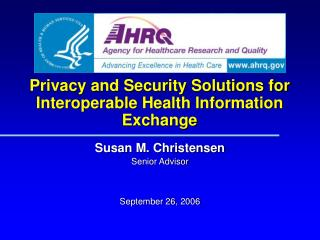 Privacy and Security Solutions for Interoperable Health Information Exchange