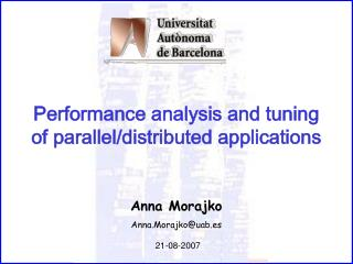 Performance analysis and tuning of parallel/distributed applications