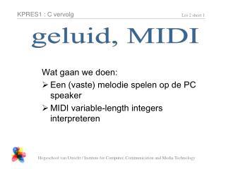 geluid, MIDI