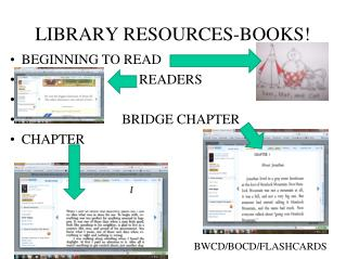 LIBRARY RESOURCES-BOOKS!
