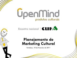 Planejamento de Marketing Cultural