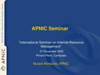 APNIC Seminar