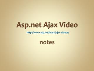 Asp Ajax Video