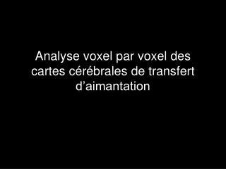 Analyse voxel par voxel des cartes cérébrales de transfert d'aimantation